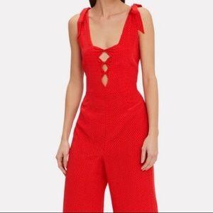 INTERMIX Pants - Intermix Silk Red Jumpsuit